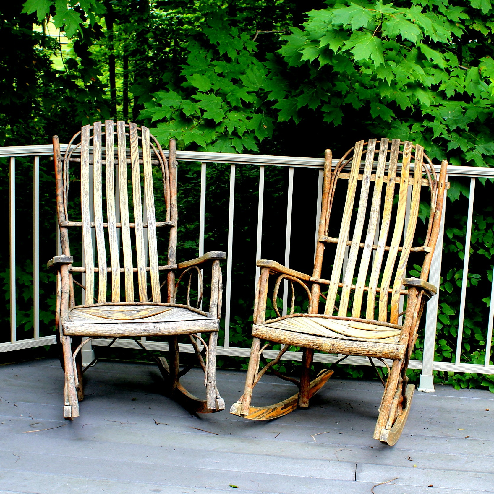 Handcrafted Bentwood Amish Rockers