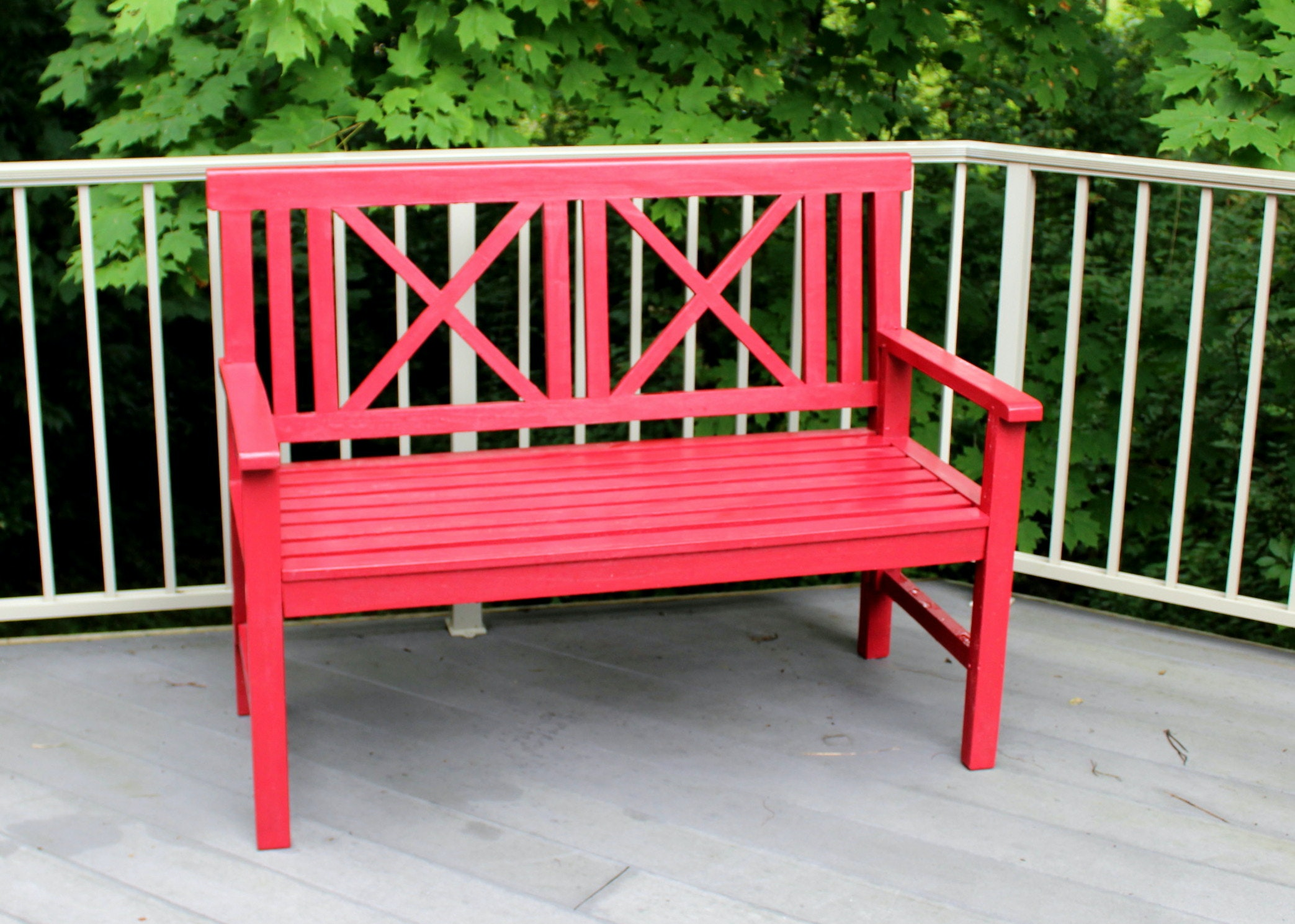 Gardner's Eden Painted Teak Bench