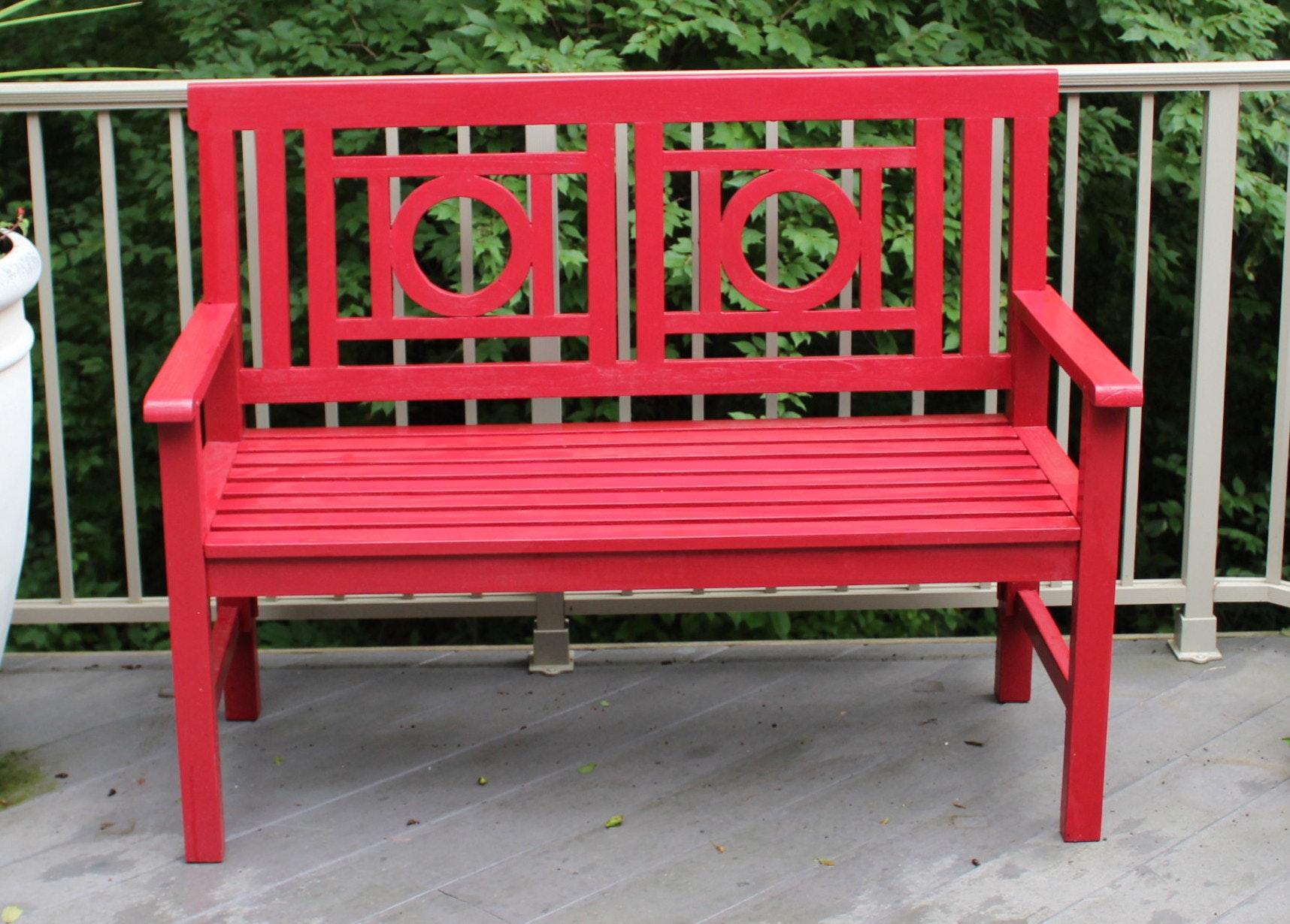 Painted Outdoor Bench from Gardner's Eden