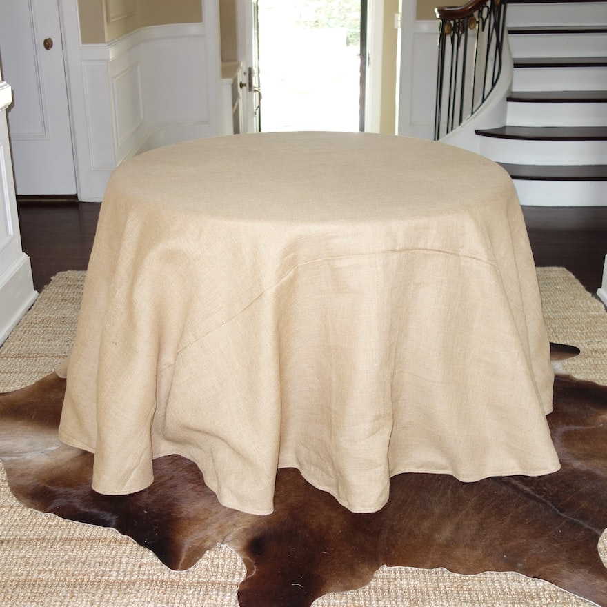 Pottery Barn Pedestal Table With Ballard Designs Round Tableskirt EBTH - Pottery barn round pedestal table