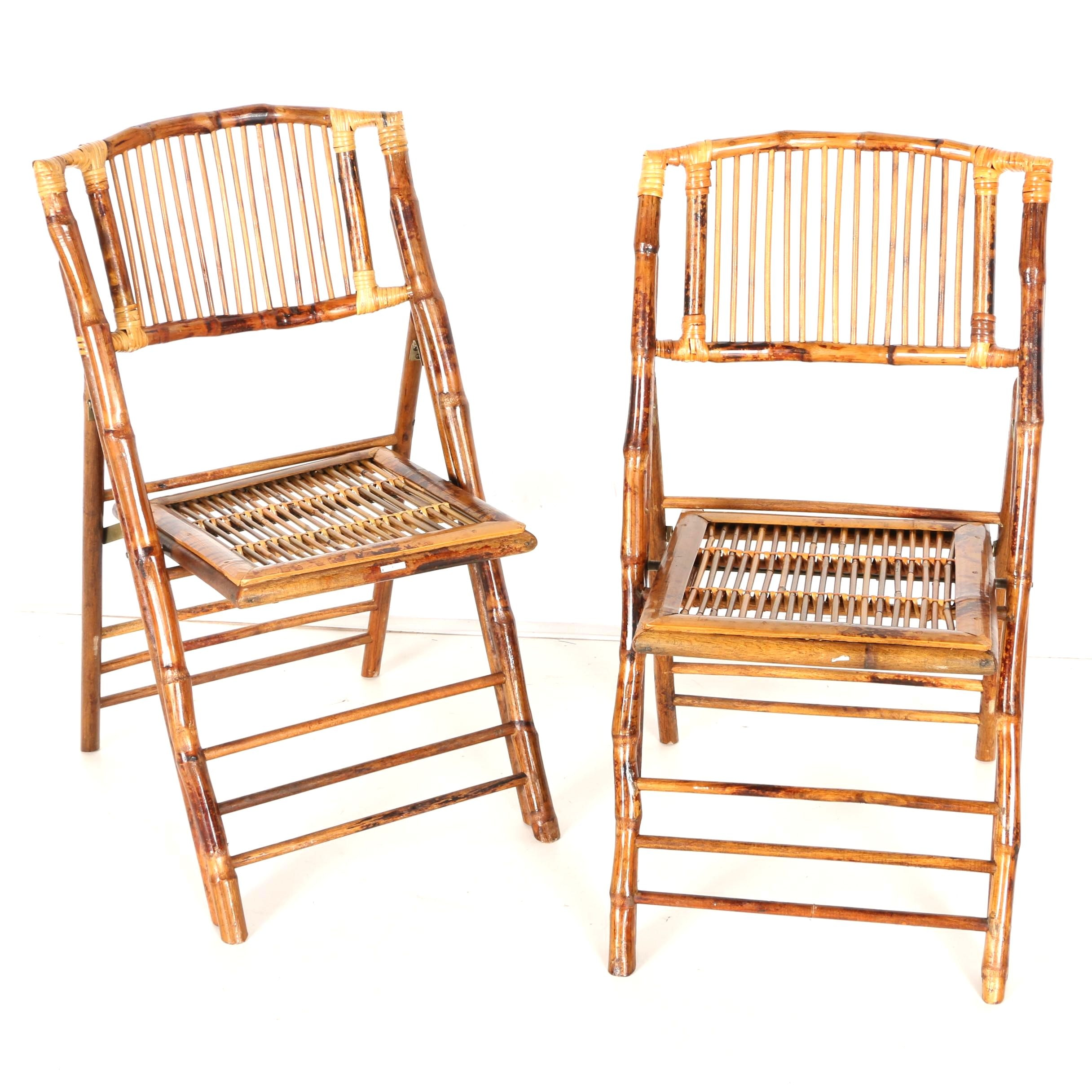 Pair of Rattan Side Chairs