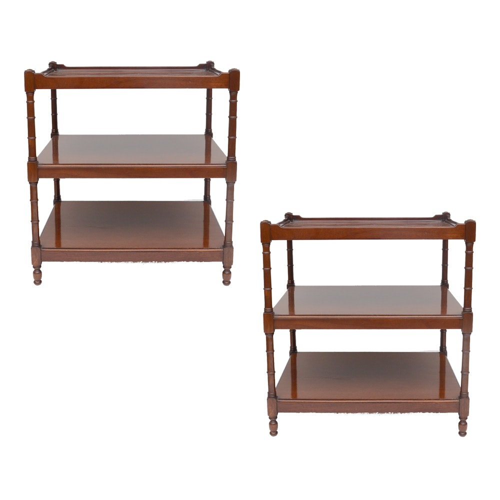 Pair of Tiered Accent Tables