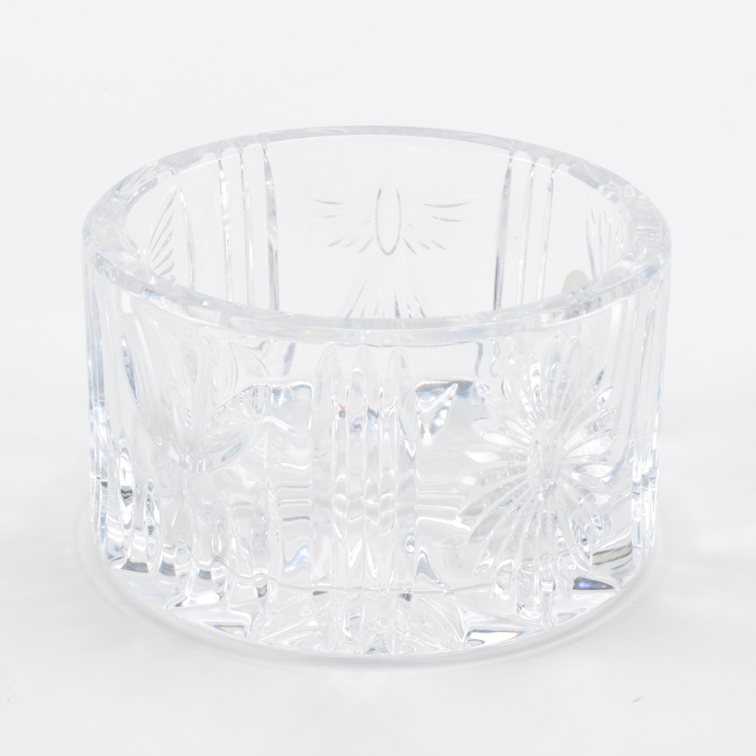 "Waterford Crystal ""Millennium"" Wine Bottle Coaster"