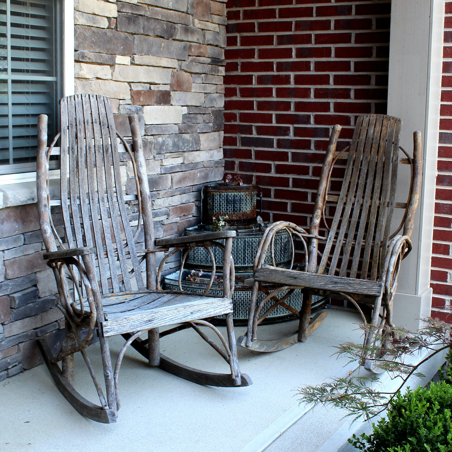 Amish Rockers and Tiered Plant Stand
