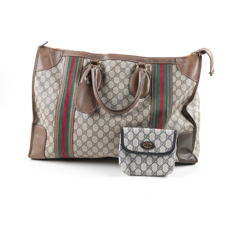 904114c0b7aa Gucci Signature Duffel and Accessory Pouch ...