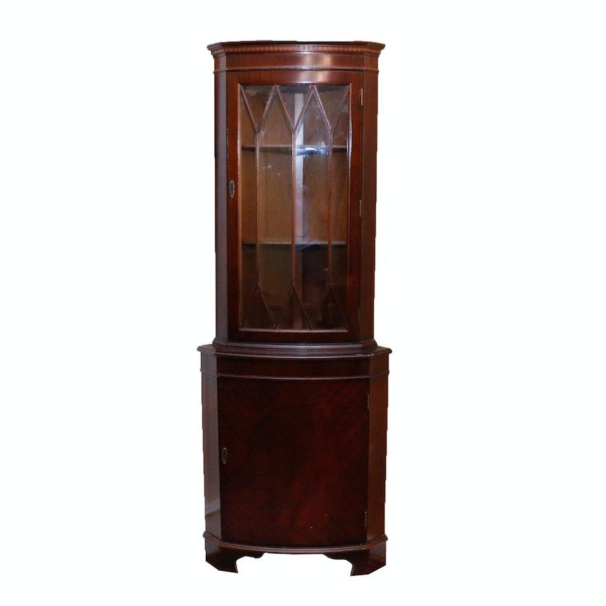 Wooden Corner Display Cabinet