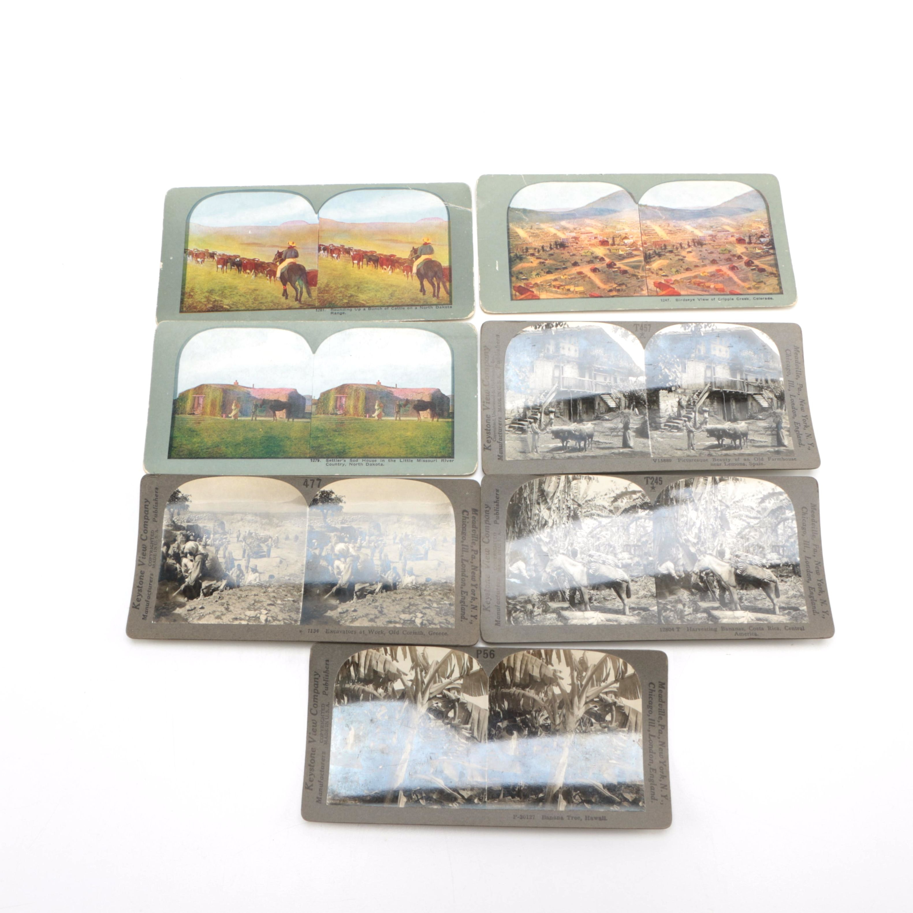 Early-Twentieth-Century Stereo Cards Including Colorized Views of the American West