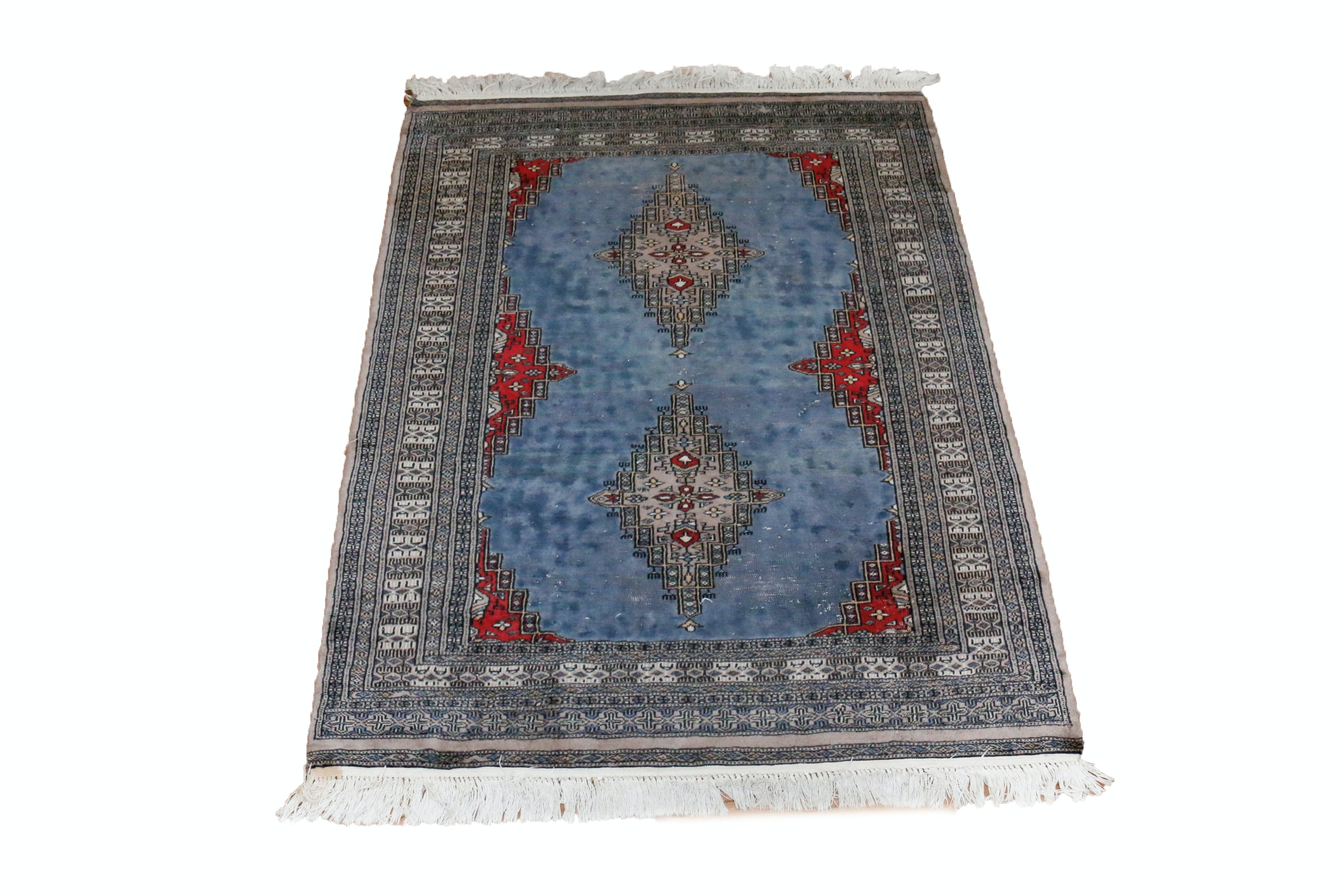 Hand Knotted Pakistani Wool Area Rug