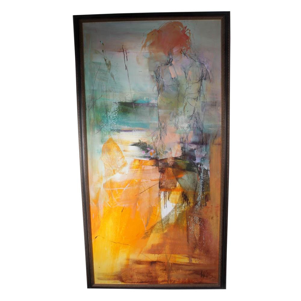 """Karin Völker Oil Painting, """"Southsea Dream"""""""