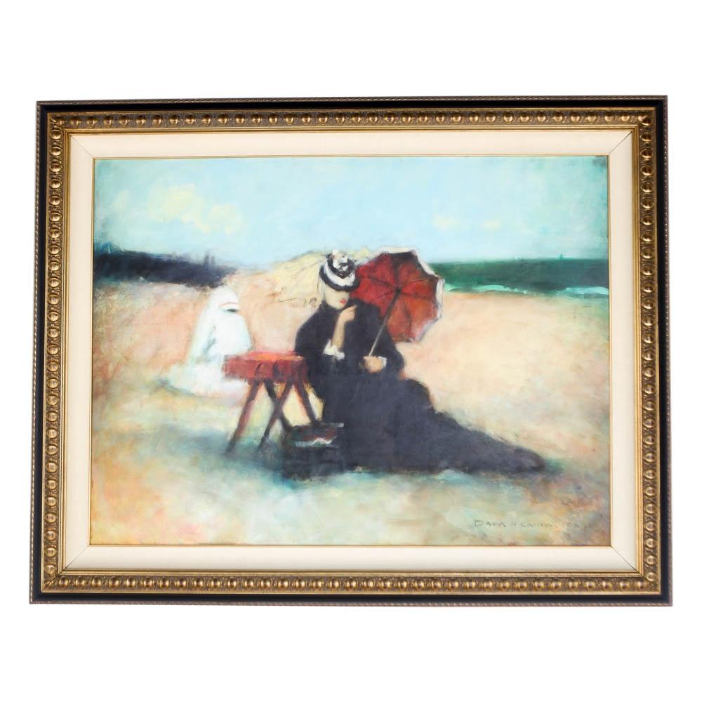 Dana Carlson Original Framed Painting on Canvas