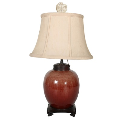 Frederick Cooper Asian Jar Table Lamp And William Sonoma Shade Ebth