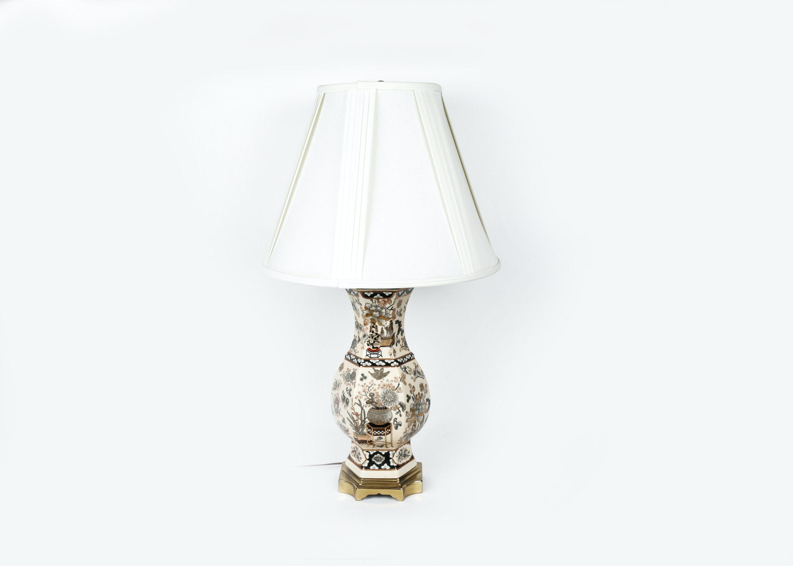 Asian Inspired Porcelain Lamp