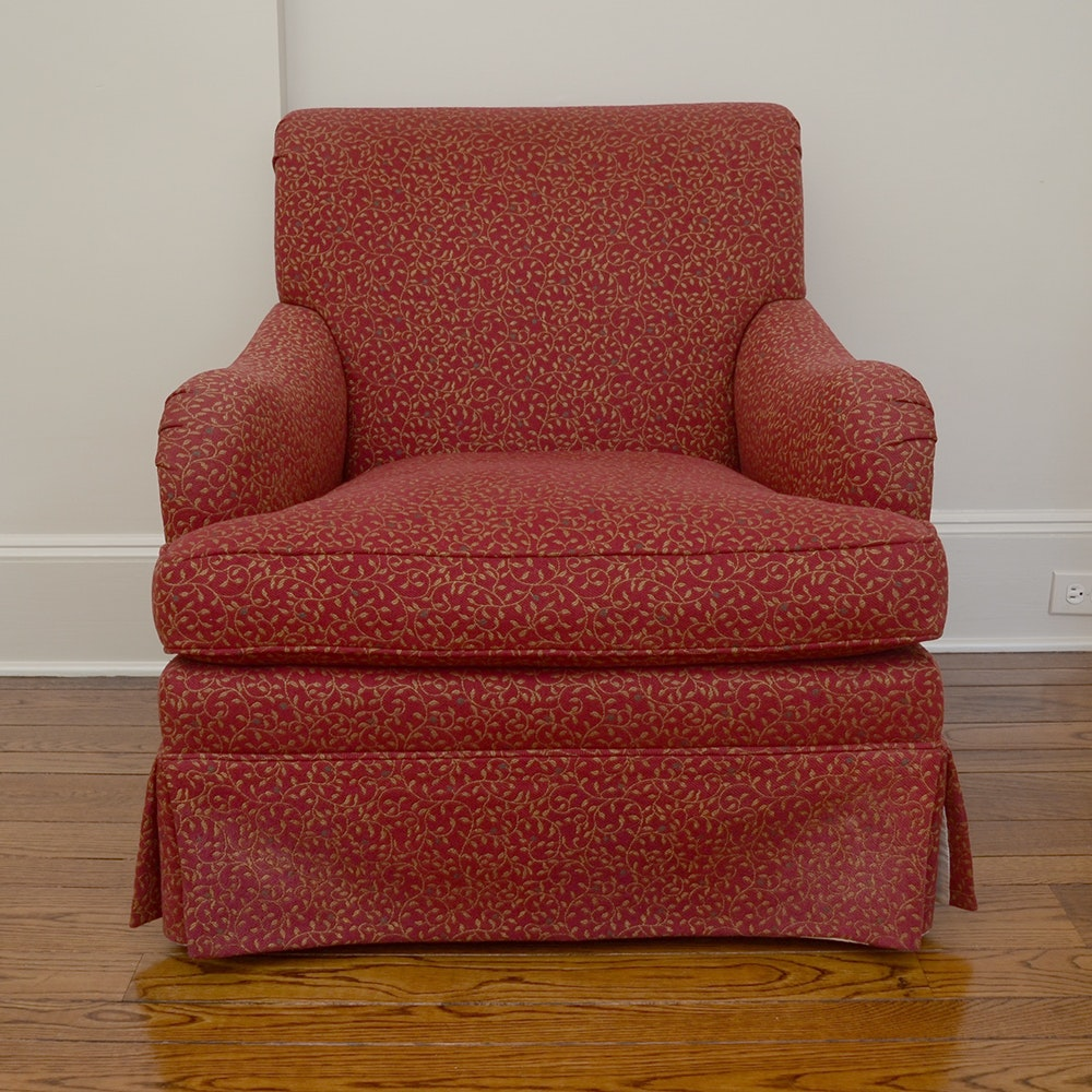 Red Upholstered Lounge Chair