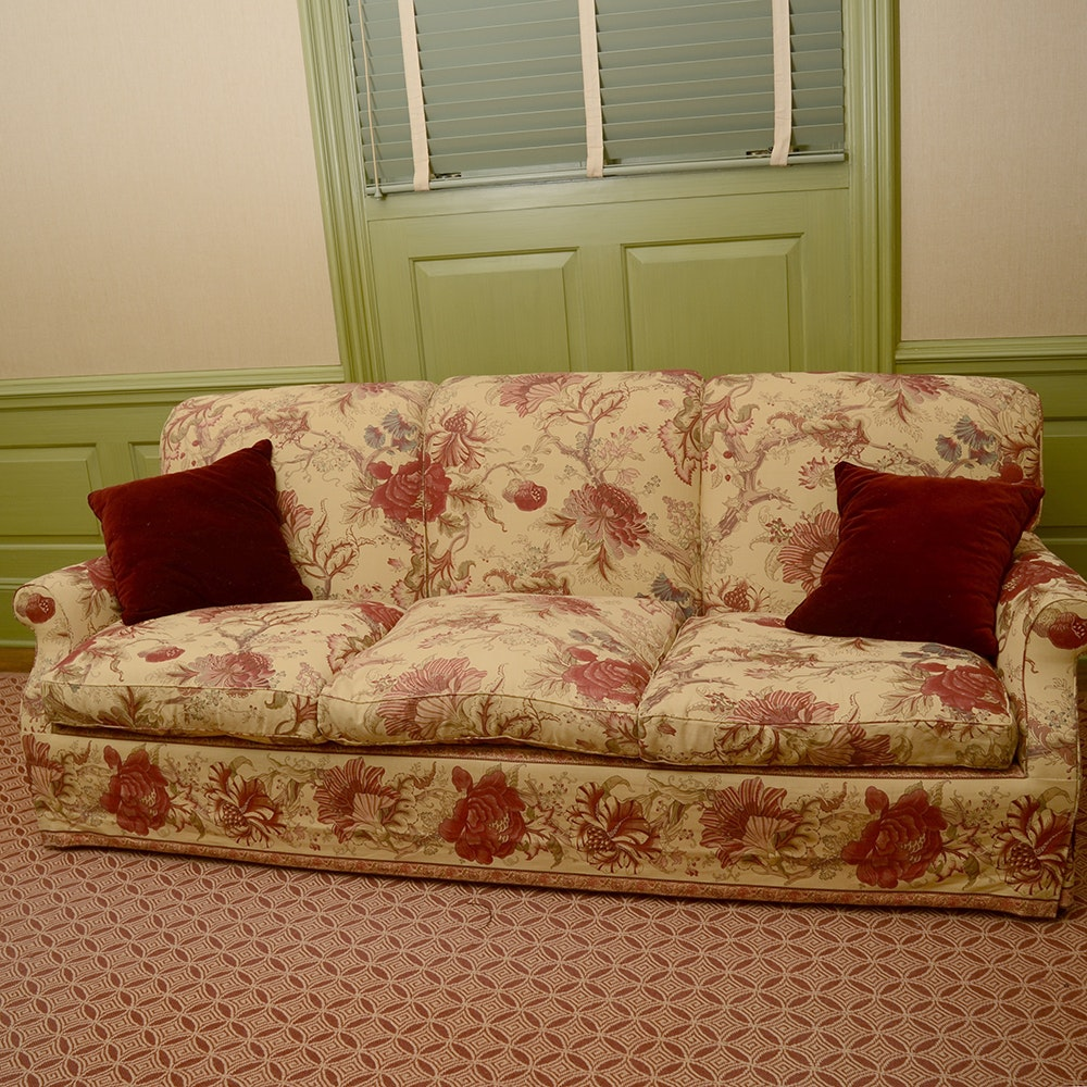 English Style Floral Print Sofa ...