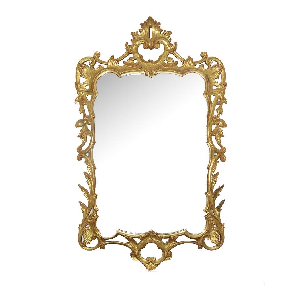 Louis XV Style Gold Tone Mirror