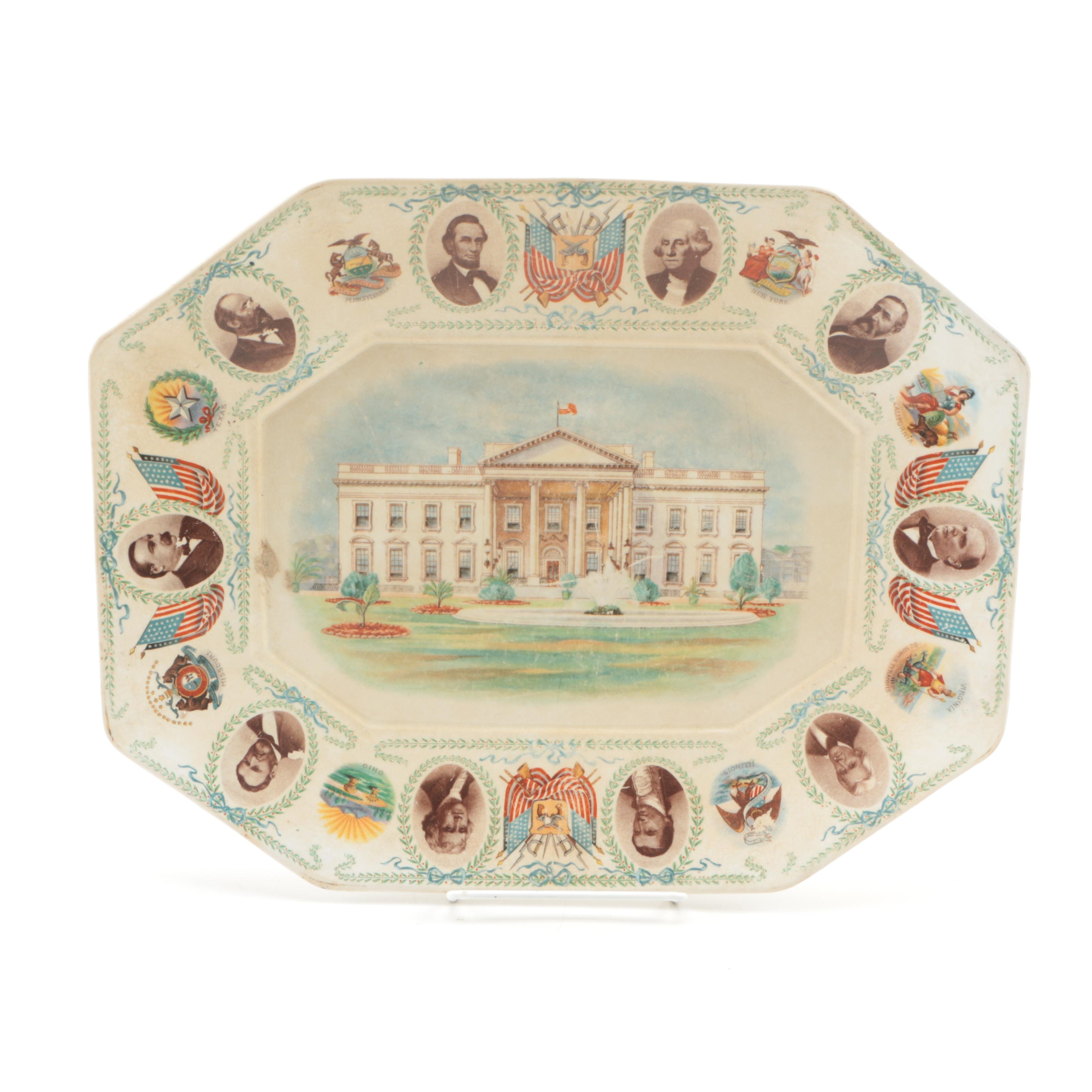 Presidential Auto Sales >> La Francaise Porcelain United States Presidential Plate : EBTH