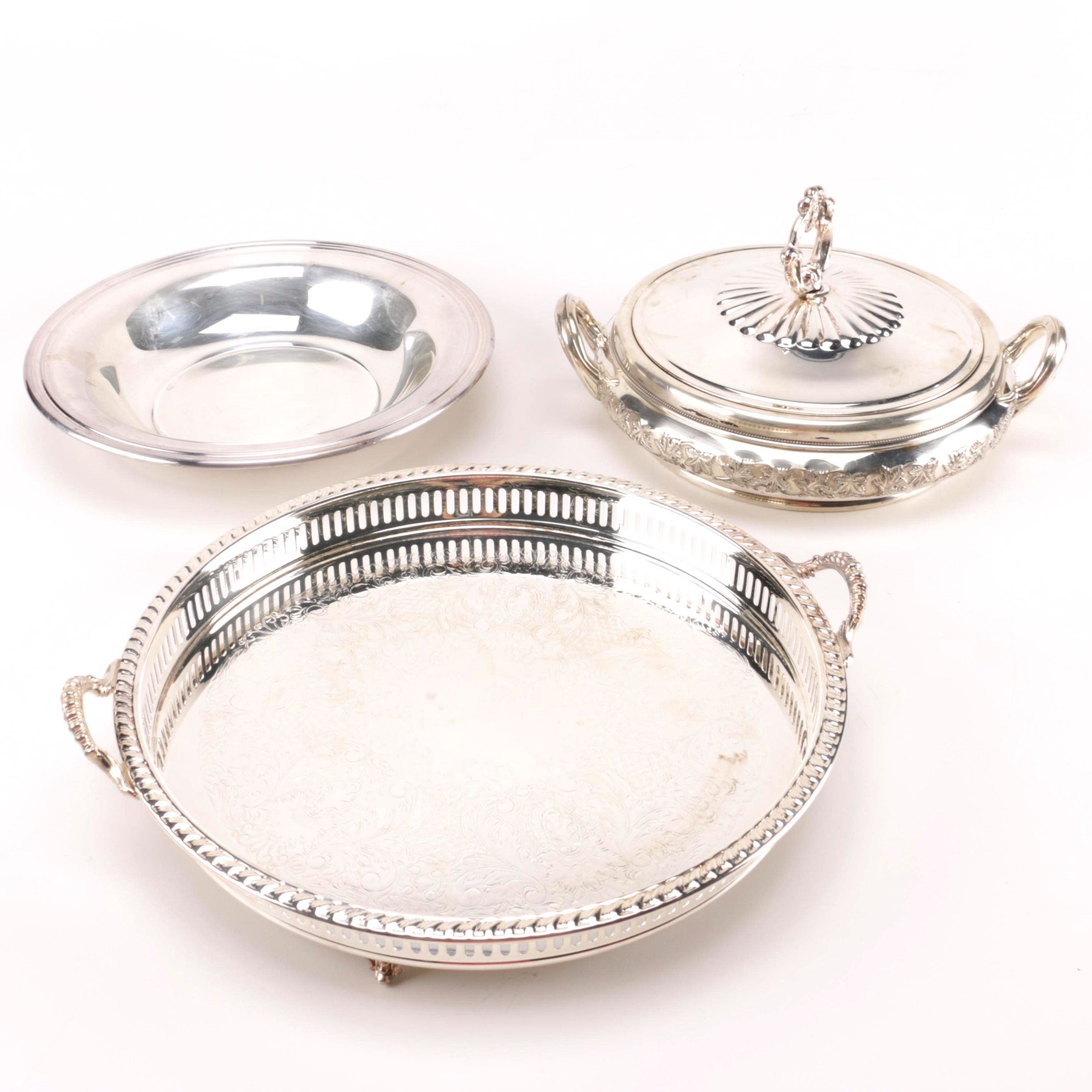 Silver Plate Servingware Featuring W. & S. Blackington