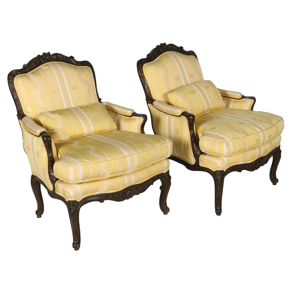 Pair of Custom French Provincial Style Chairs