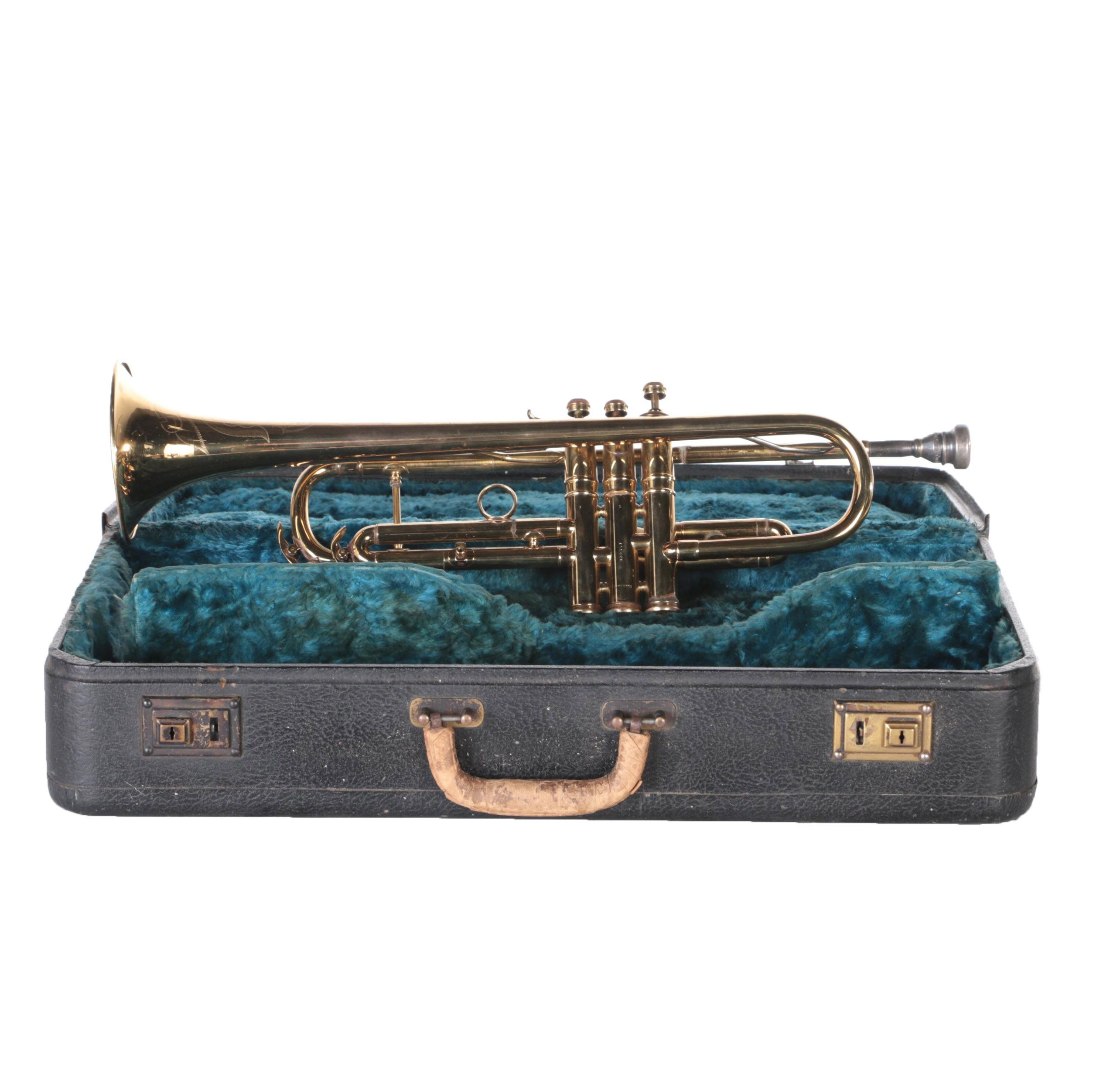 C.G. Conn Ltd. Brass Trumpet and Case
