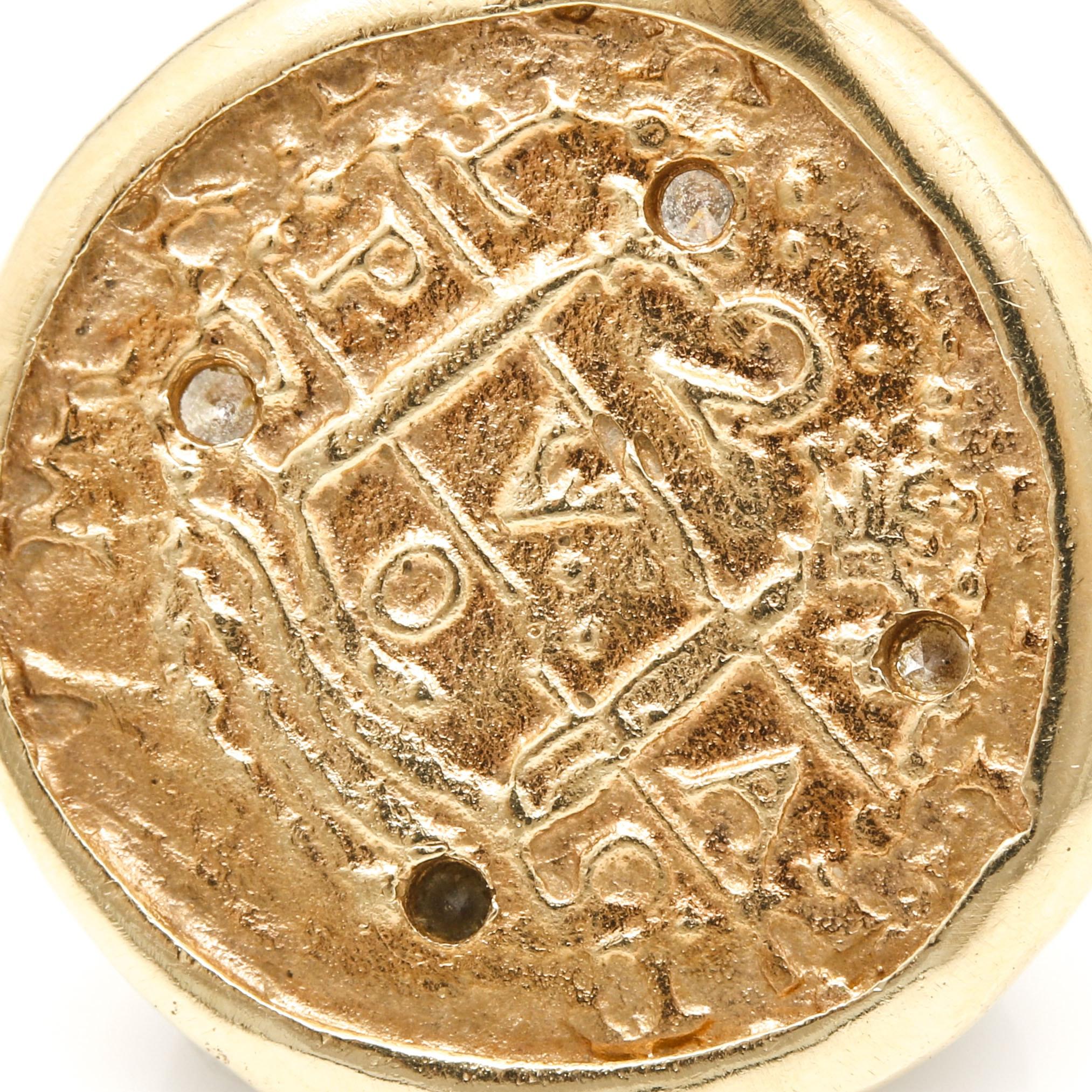 Colonial Auto Center >> 14K Yellow Gold Diamond Coin Pendant : EBTH