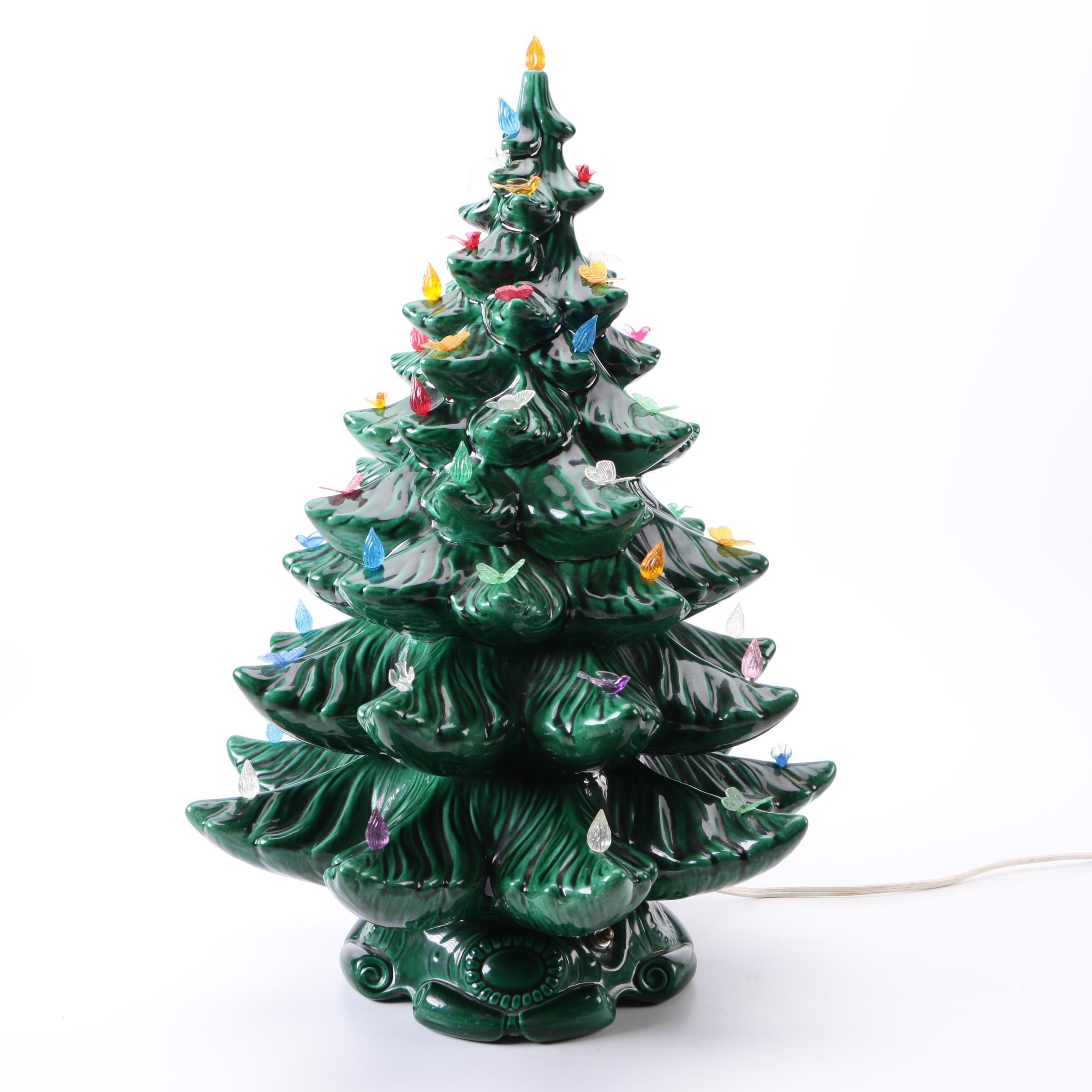 Ceramic Lighted Tabletop Holiday Tree
