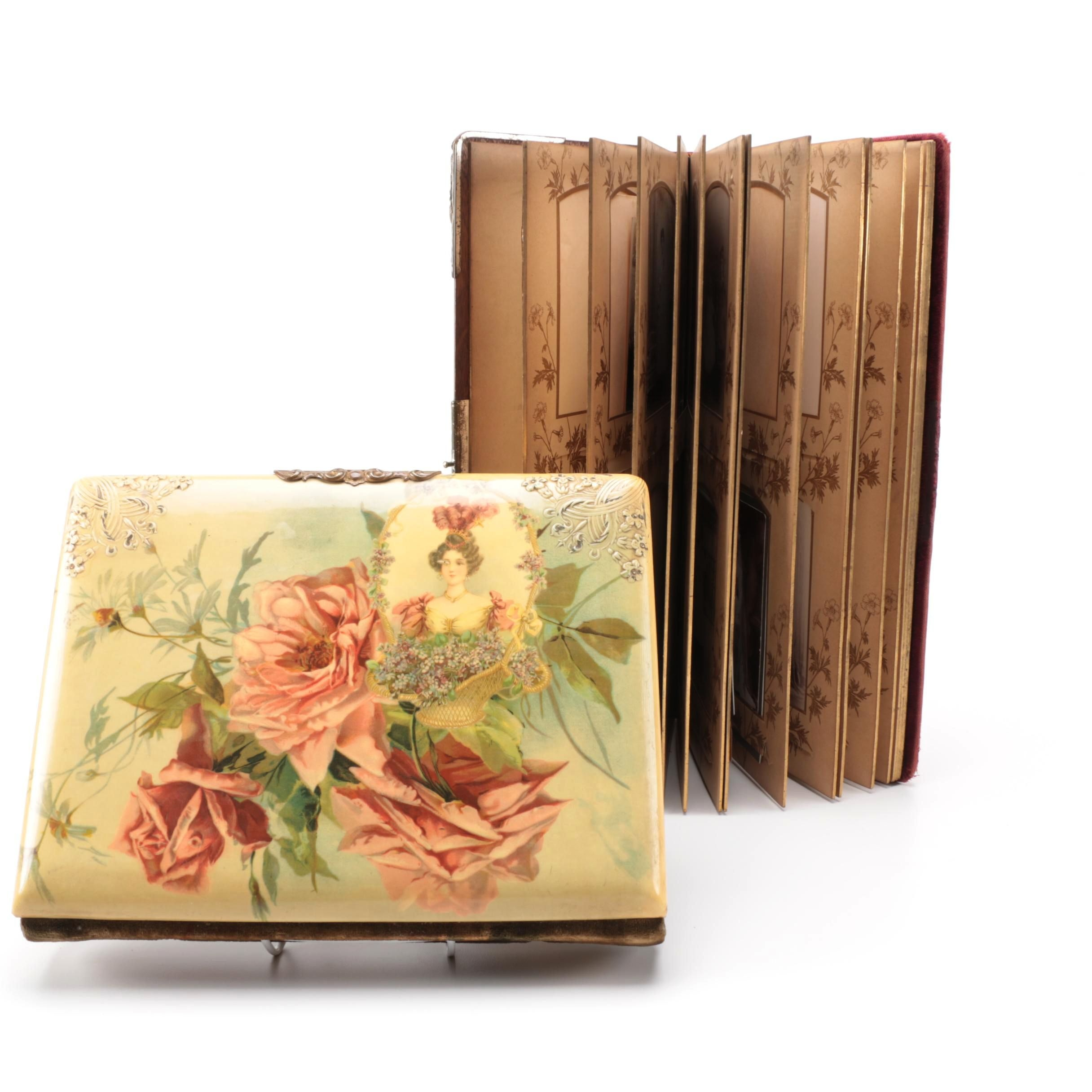 Pair of Antique Photo Albums with Photos