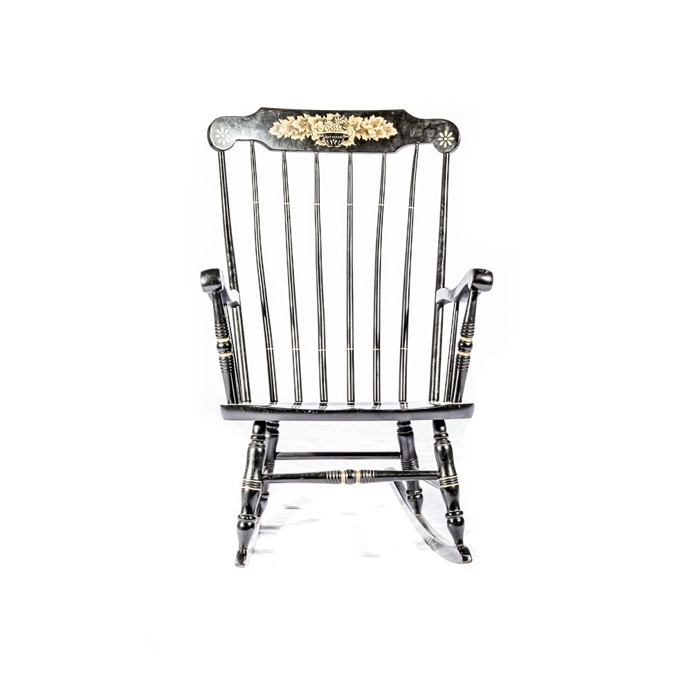 Hitchcock Style Spindleback Rocking Chair