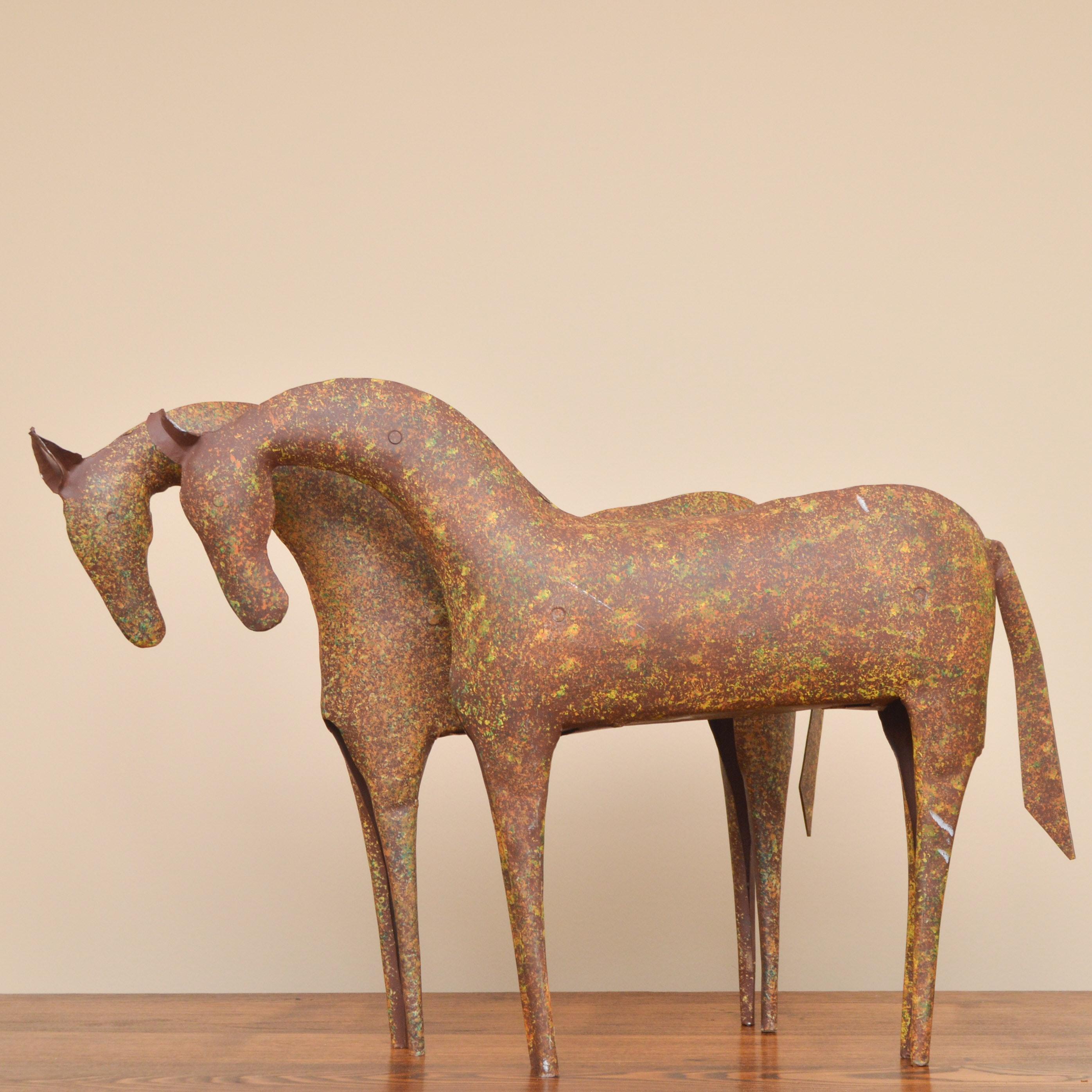 Rustic Metal Horse Statues
