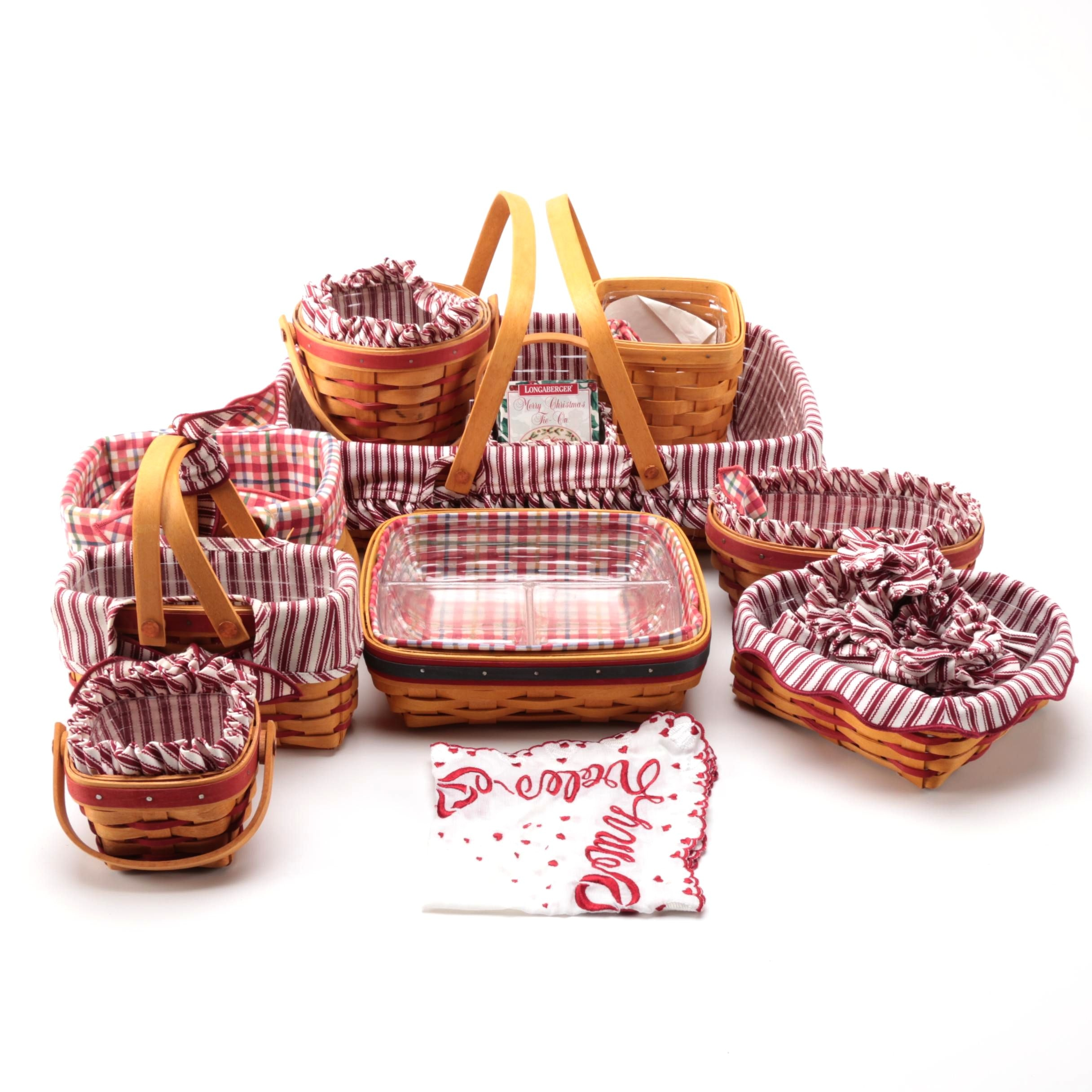 Longaberger Baskets Including Valentine's Themed Baskets