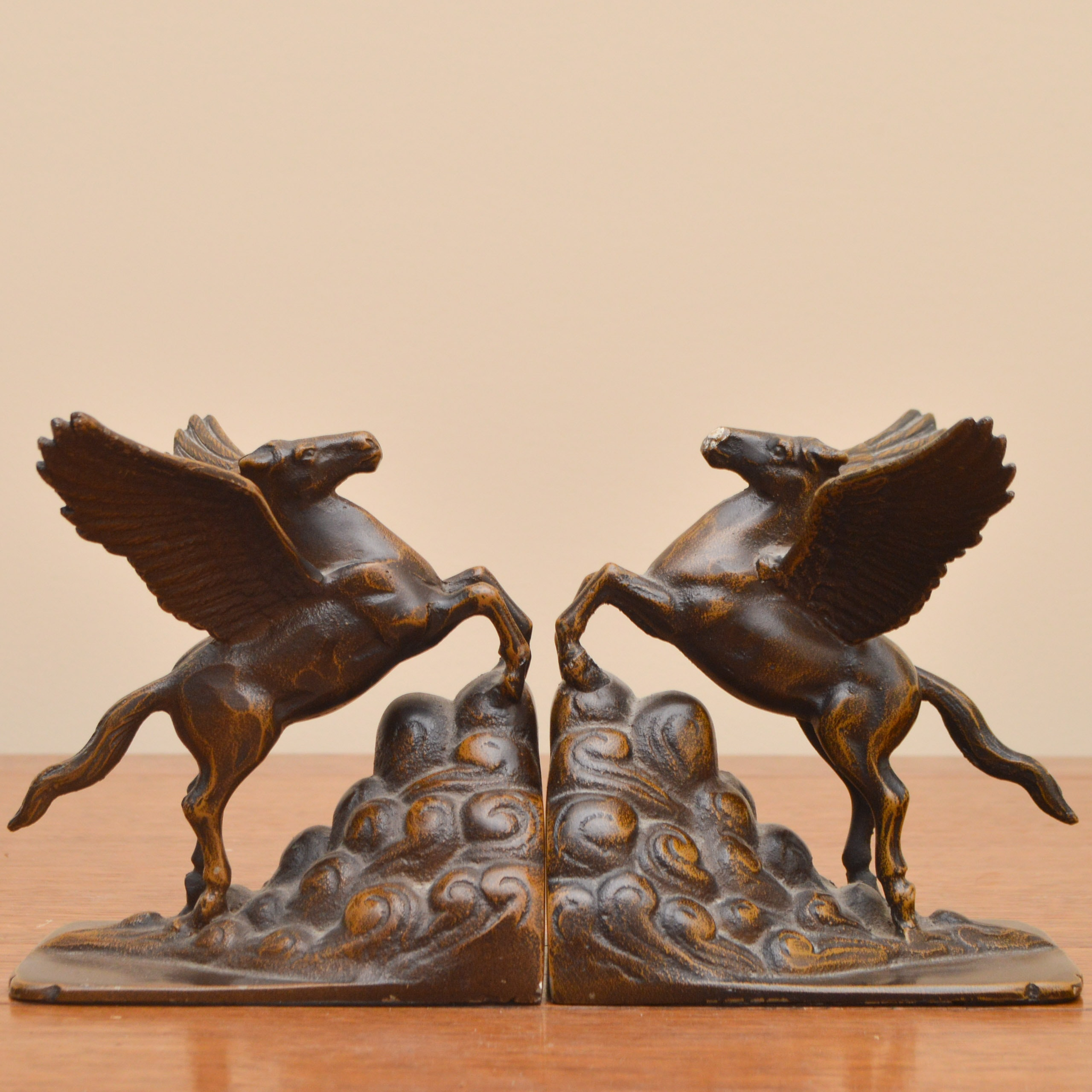 Winged Horse Bronze Bookends