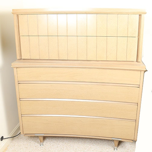 mid century modern highboy dresser by unagusta mfg co