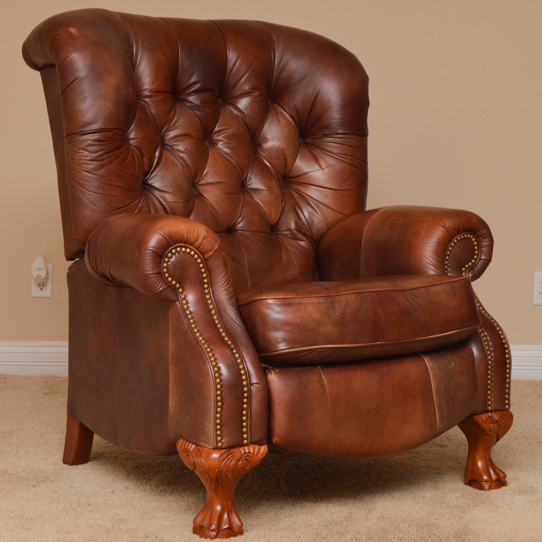 La-Z-Boy Brown Leather Recliner
