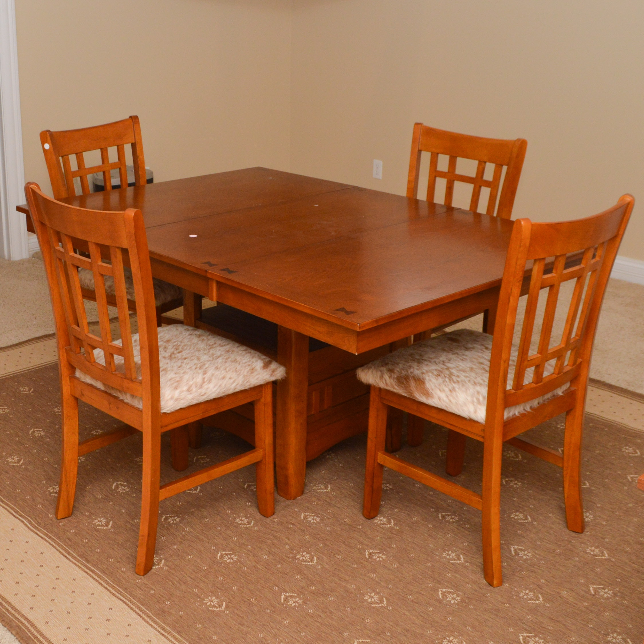 Mission Style Oak Table and Chairs