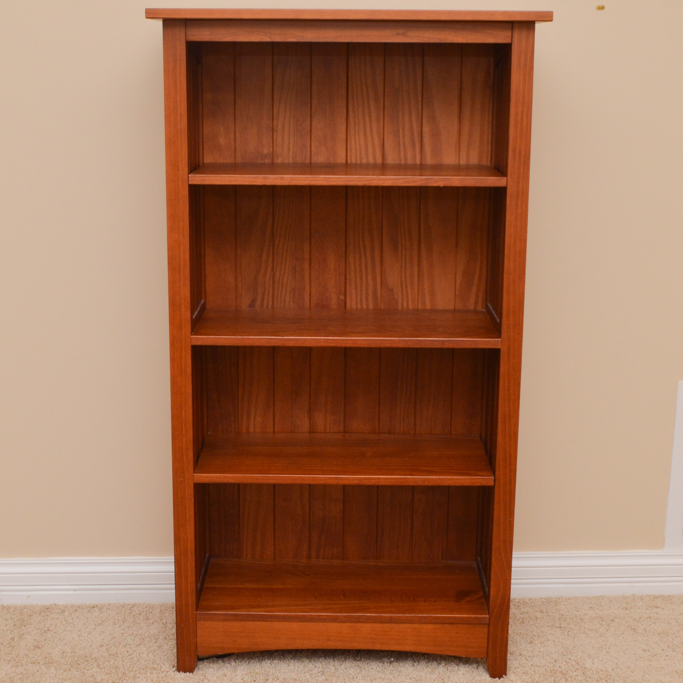 Stained Oak Mission Style Standing Shelves