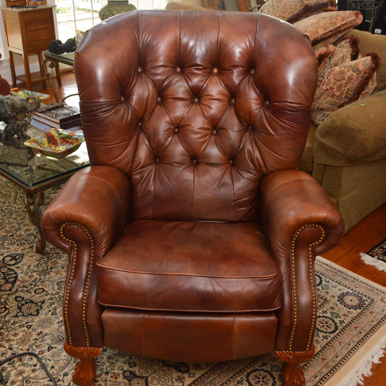 Tufted Leather La-Z-Boy Recliner