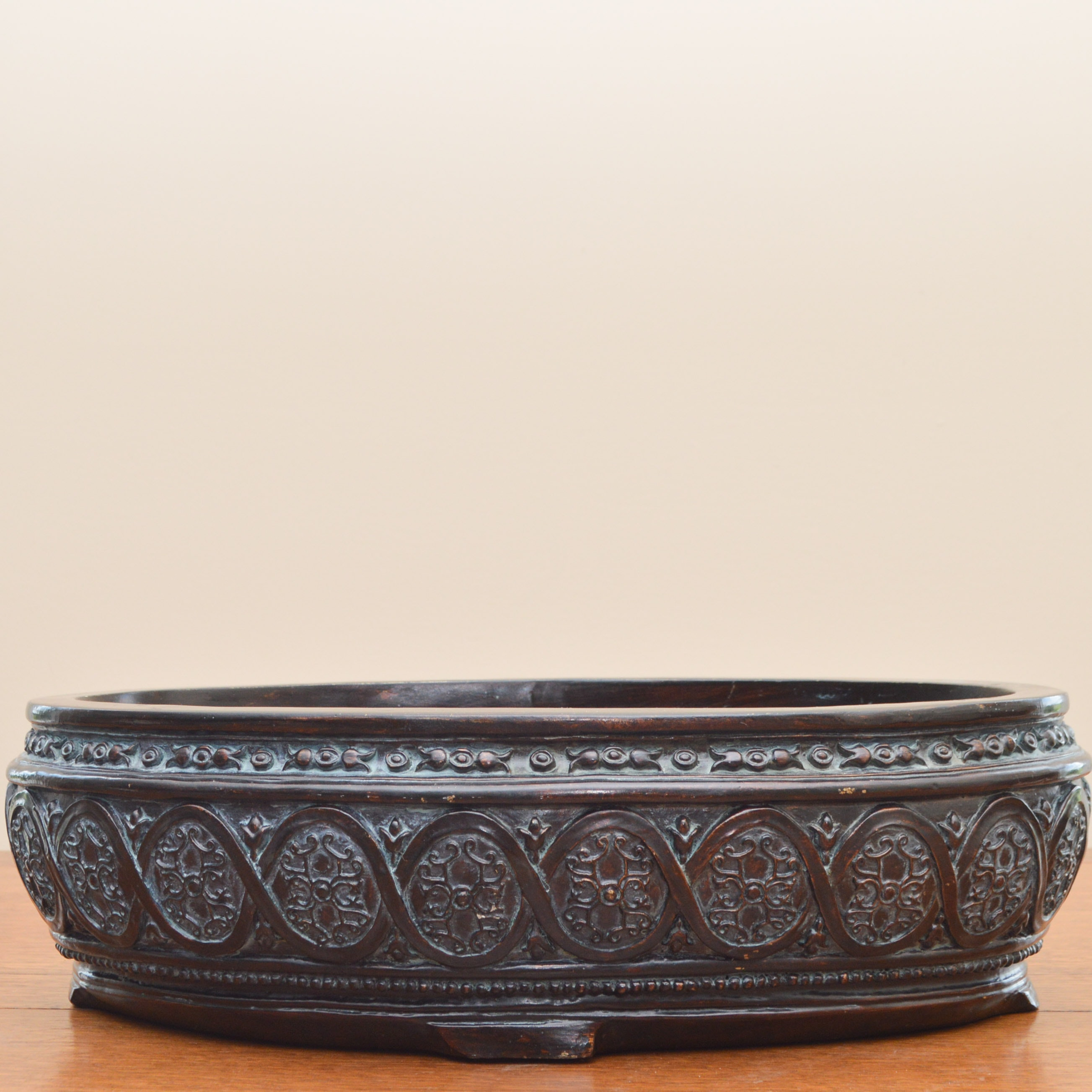 Carved and Painted Wooden Bowl