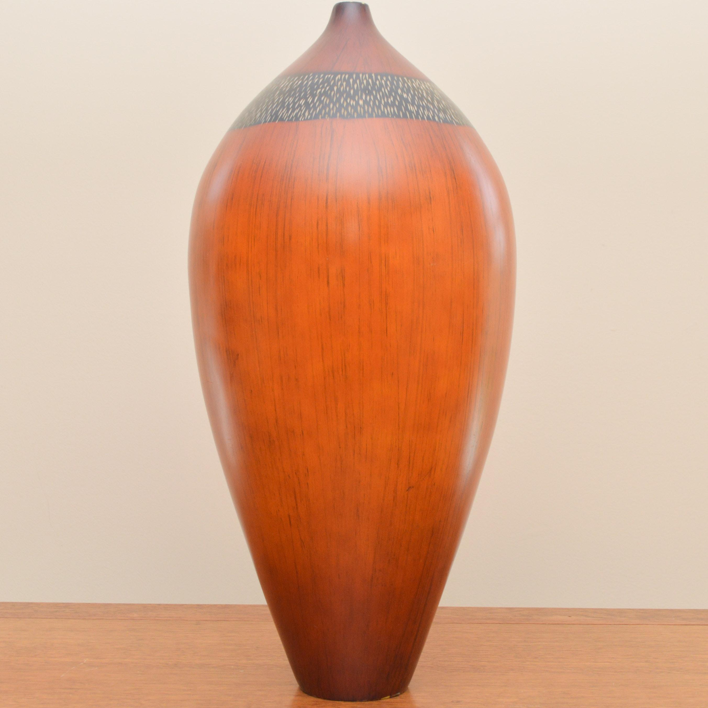 Unique Wood Carved Vase
