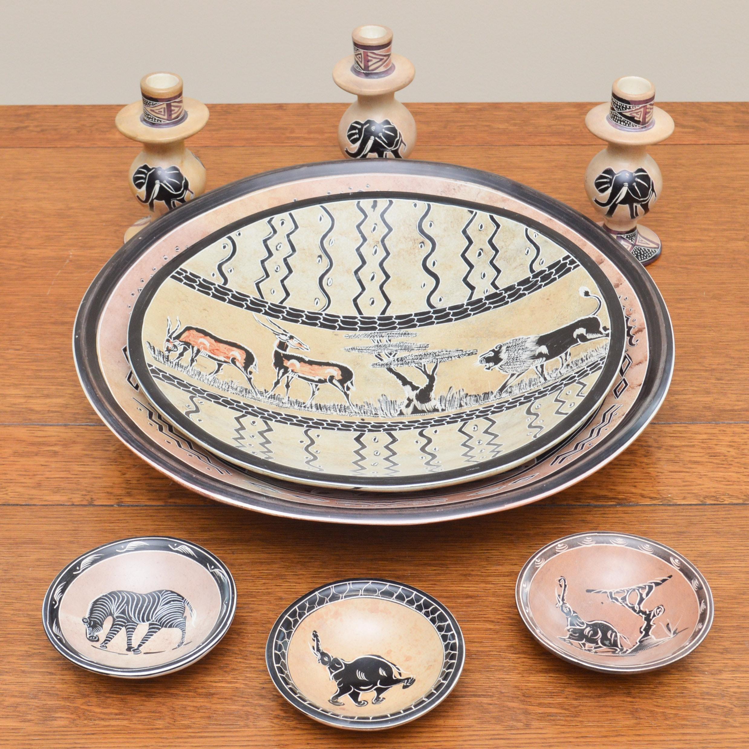 Hand-Painted Ceramic Decor from Kenya