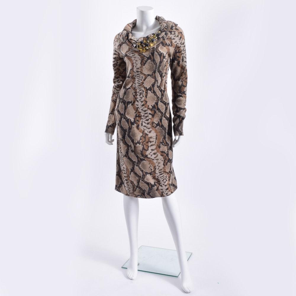 Blumarine Embelished Midi Dress
