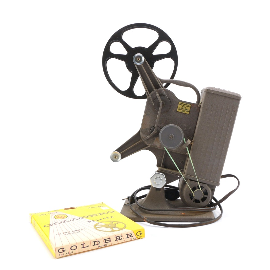 1940s Keystone 16mm Movie Projector With Film Reel