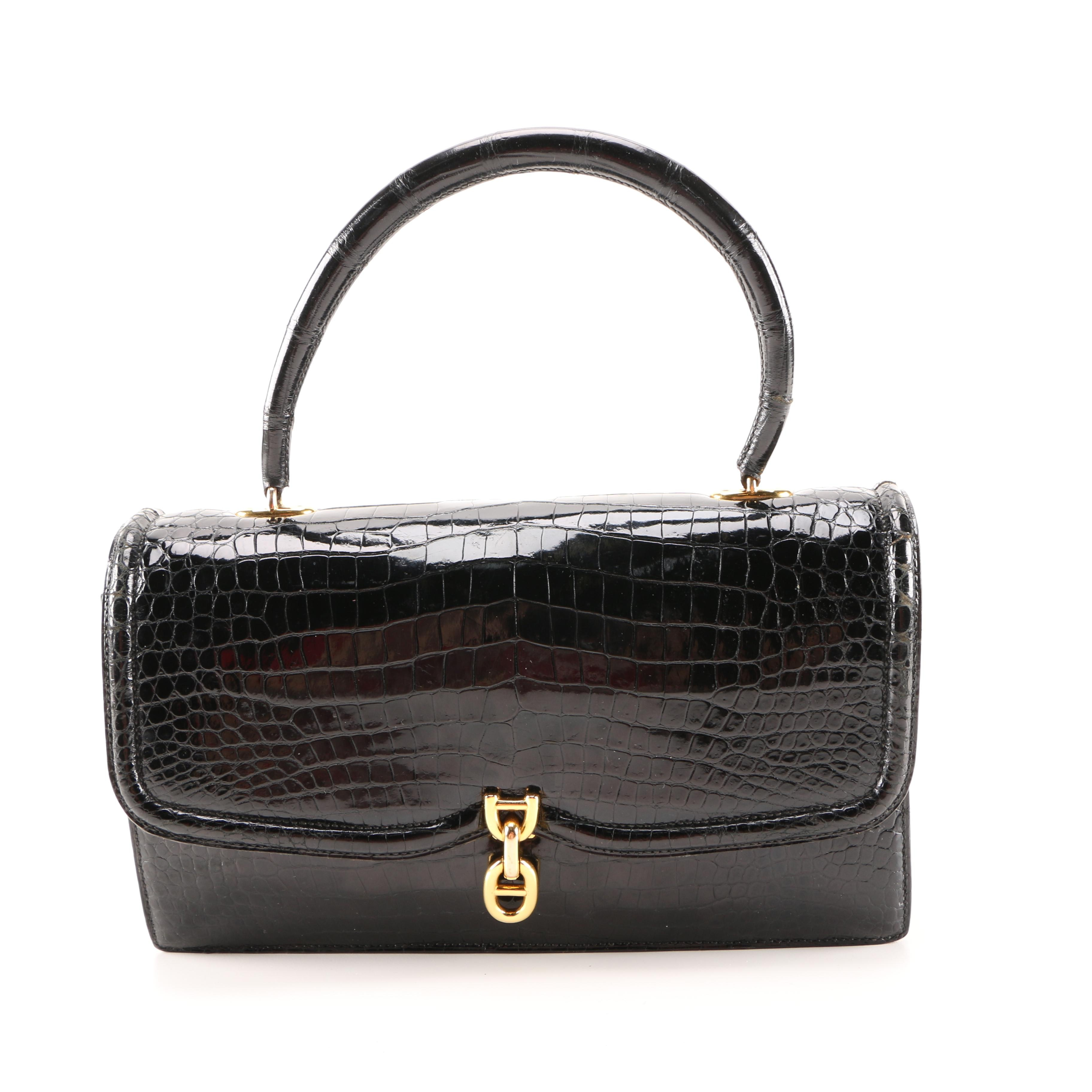 Vintage Hermès Alligator Chaine d'Ancre Handbag