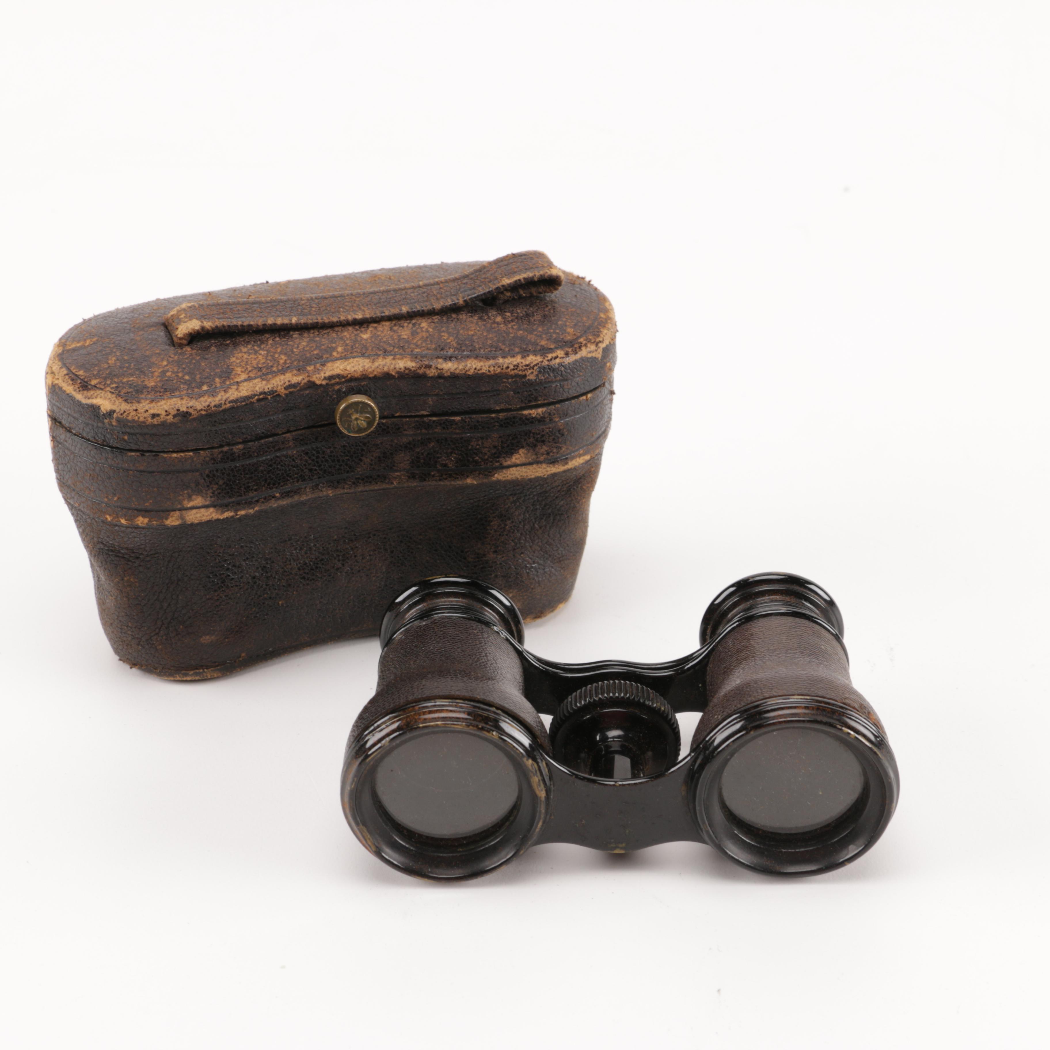 LeMaire Fabt Paris Binoculars in Leather Case