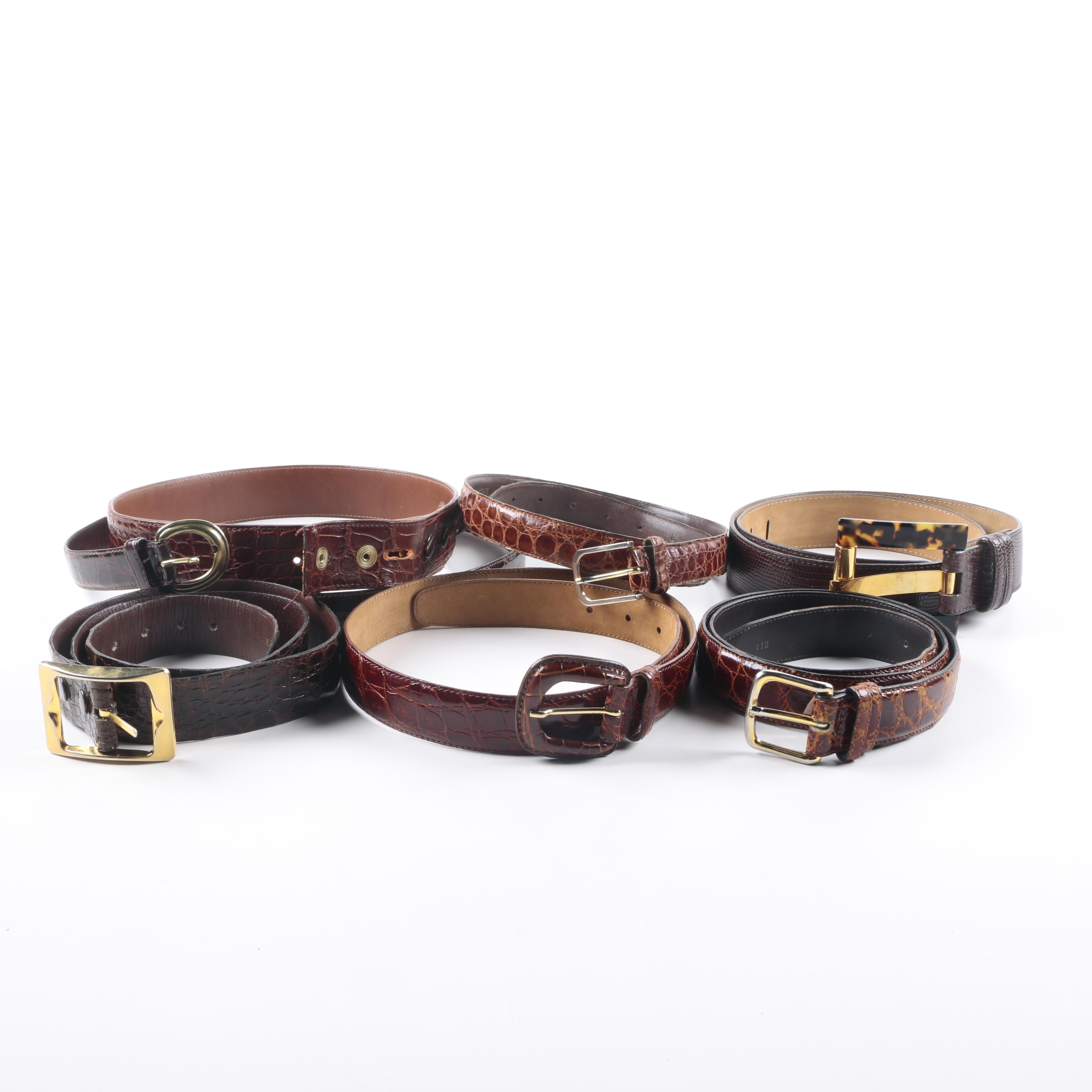Collection of Alligator and Lizard Belts