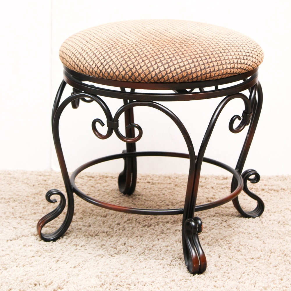 Wrought Iron Vanity wrought iron vanity stoolpier1 imports : ebth