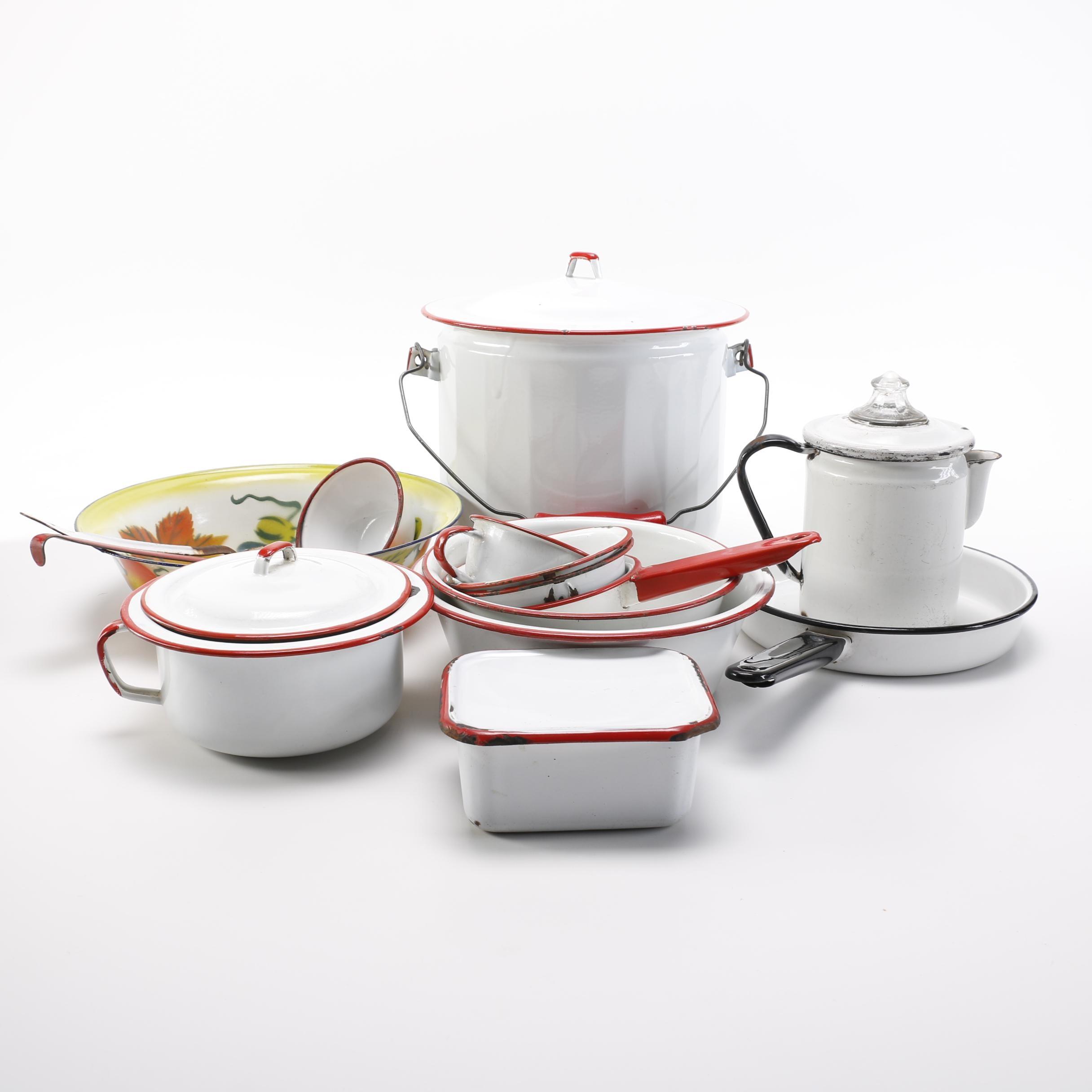 Vintage Enameled Kitchenware