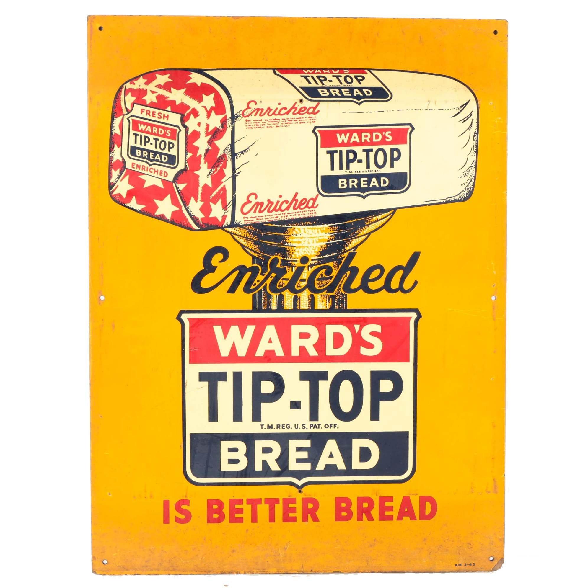 Vintage Signage for Ward's Tip-Top Bread