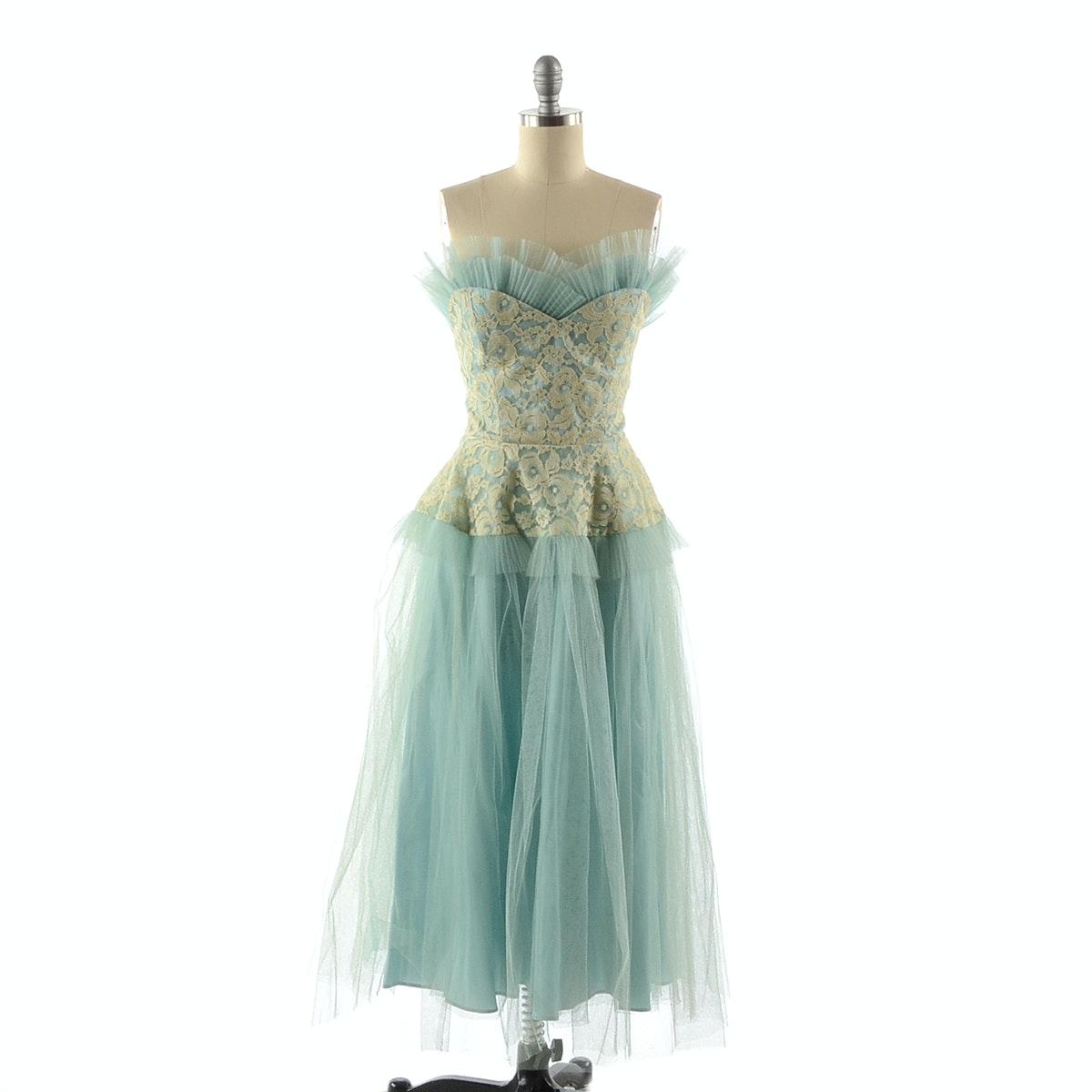 Circa 1950s Party Dress