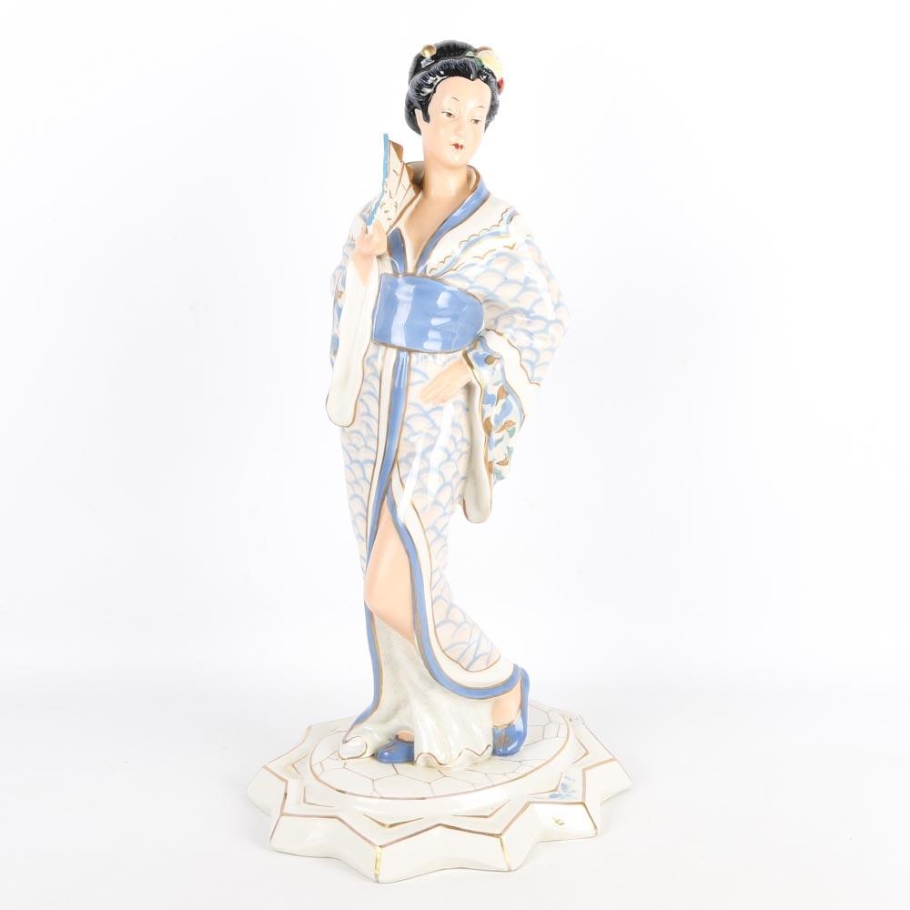 Vintage Royal Dux Bohemia Porcelain Figurine
