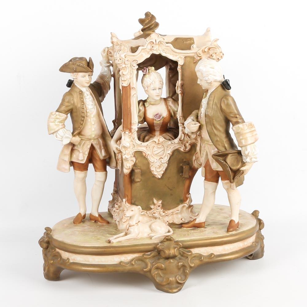 Royal Dux Bohemia Porcelain Sculpture