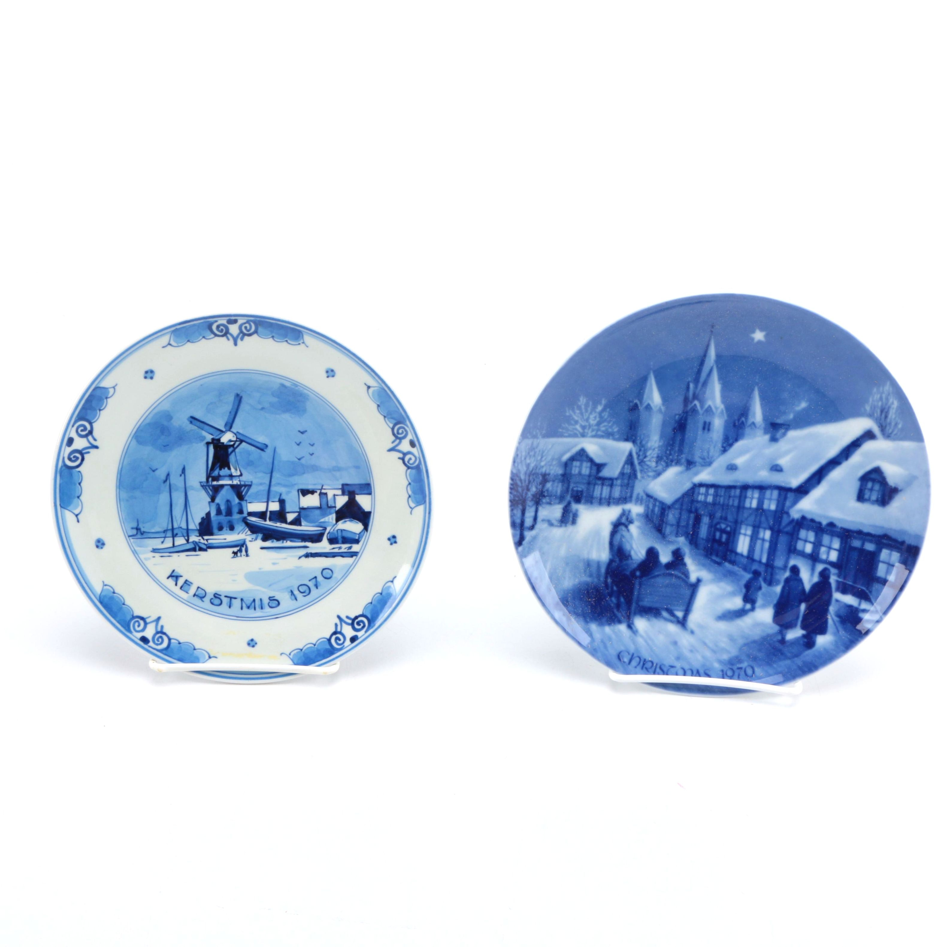 1970 Decorative Christmas Plates